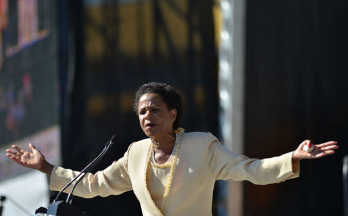 FILE: Mamphela Ramphele gestures as she speaks during the launch of Agang SA, Pretoria, 22 June 2013. Picture: AFP.