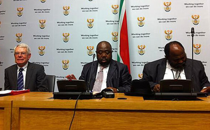 Public Works Minister Thulas Nxesi briefed media ahead of his budget vote speech on 7 May 2013. Picture: Rahima Essop/EWN
