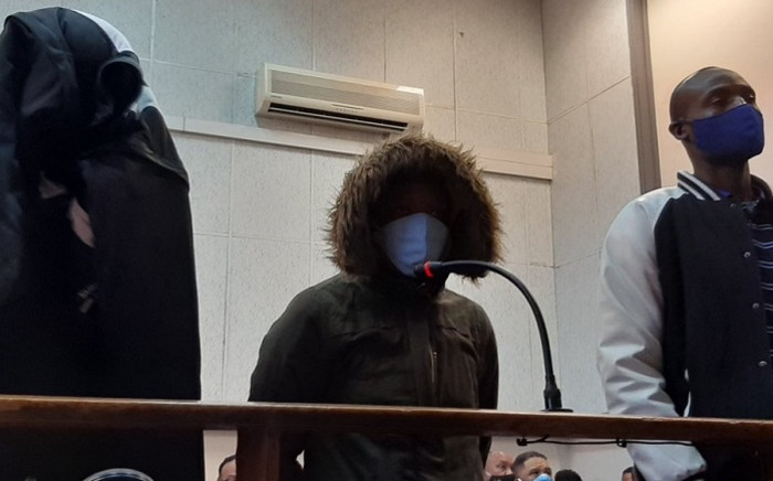 Scorpion Ndyalvane, Caylene Whiteboy and Voster Netsiongolo on 10 September 2020 made a brief appearance at the Protea Magistrates Court for the alleged murder of 16-year-old Eldorado Park teenager, Nathaniel Julies. Picture: Kgomotso Modise/EWN