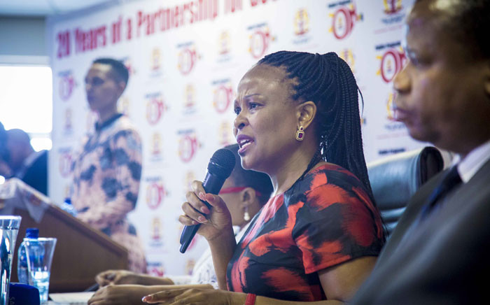 FILE: Public Protector Busisiwe Mkhwebane releases the report on investigations into financial corruption and planning for Nelson Mandela's funeral on 4 December 2017. Picture: Thomas Holder/EWN