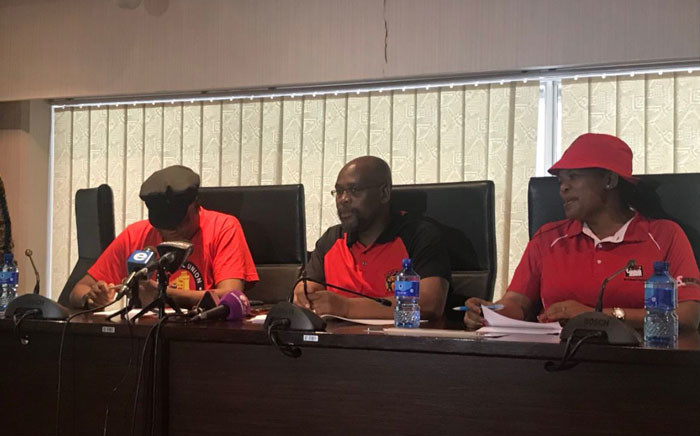 Cosatu briefing underway shortly after its central executive committee meeting. Picture: Clement Manyathela/EWN