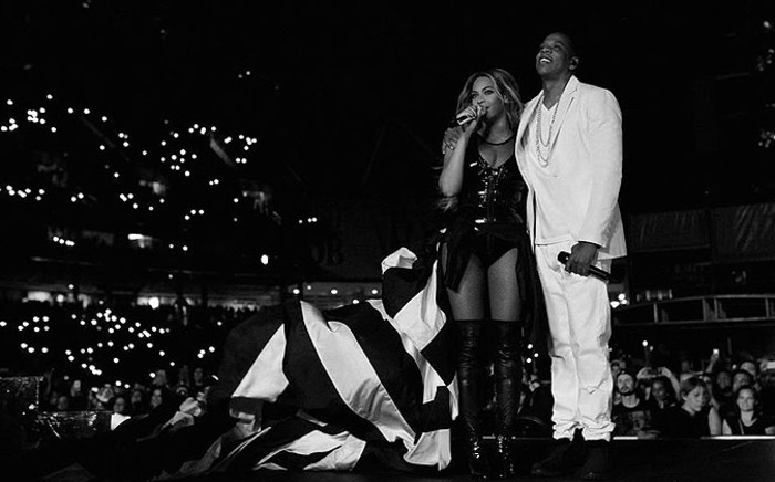 Beyonce and Jay-Z share the stage. Picture: Facebook.