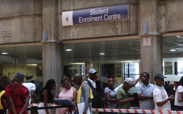 Prospective students at Wits University on 9 January 2018. Picture: EWN