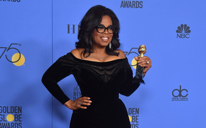 Oprah Winfrey poses with the Cecil B. DeMille Award during the 75th Golden Globe Awards on 7 January, 2018, in Beverly Hills, California. Picture: AFP
