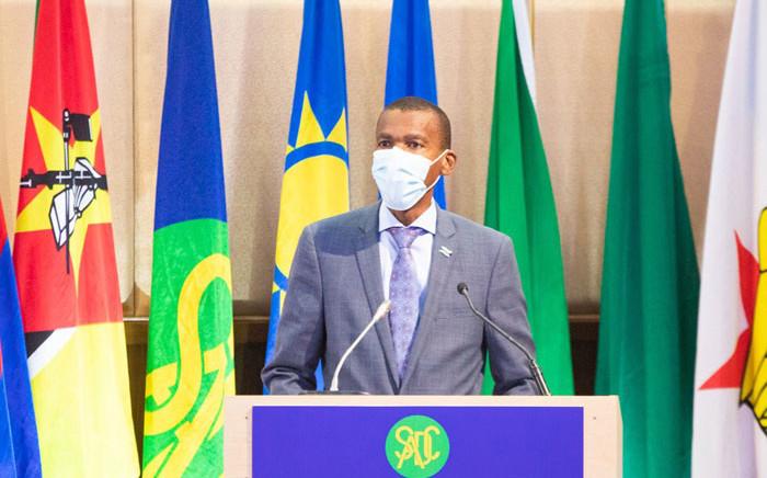 Botswana's Minister of Foreign Affairs Lemogang Kwape. Picture: @SADC_News/Twitter