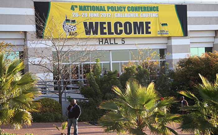 Banner welcoming delegates to the ANC National Policy Conference 2012 at Gallagher Estate in Midrand. Picture: Taurai Maduna/EWN