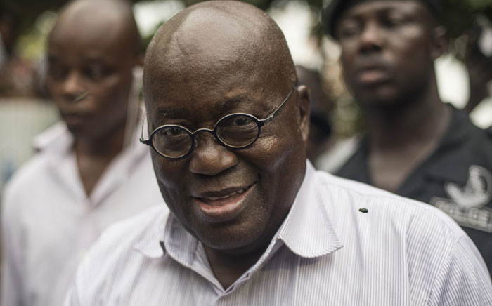 Presidential candidate of the opposition New Patriotic Party (NPP) Nana Akufo-Addo. Picture: AFP.