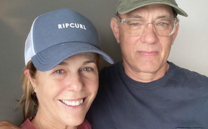 Rita Wilson and Tom Hanks. Picture: @tomhanks/Twitter