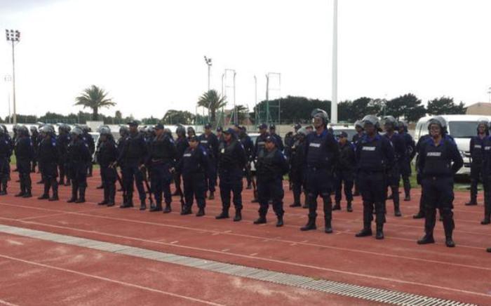 "Members of the new law enforcement stabilisation unit. Picture: Siyabonga Sesant/EWN."""