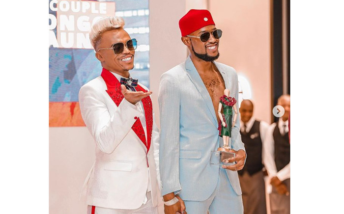 Somizi Mhlongo and Mohale Motaung. Picture: Mohale Motaung/Instagram.
