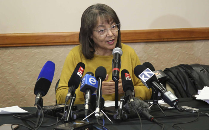 Patricia de Lille addresses the media in Cape Town following the DA's decision to rescind her membership. Picture: Cindy Archillies/EWN.