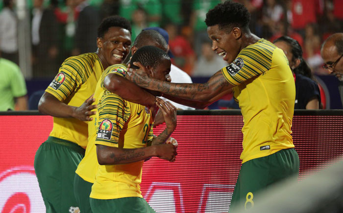 Bafana Bafana during their Afcon game against Egypt. Picture: Twitter @BafanaBafana.