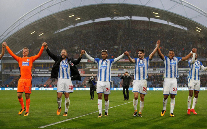 Manchester United suffered their first defeat of the season with a shock 2-1 loss at promoted Huddersfield Town. Picture: Twitter @htafcdotcom.