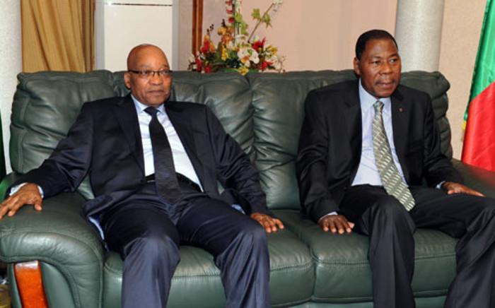 President Jacob Zuma and Benin President Boni Yaya.