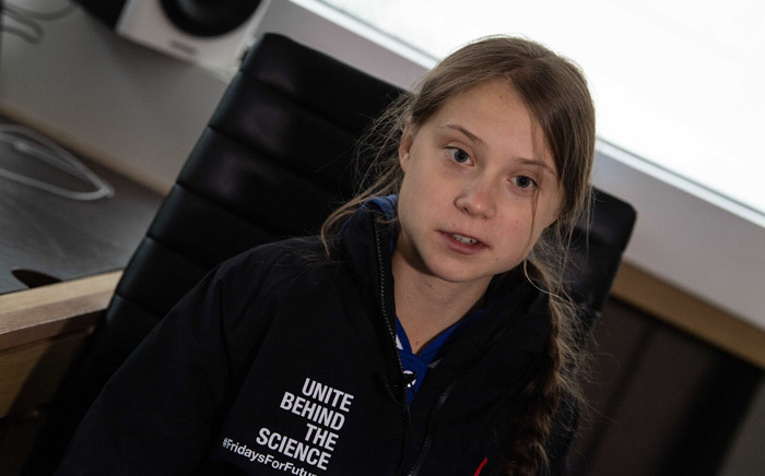 Swedish climate activist Greta Thunberg speaks to AFP during an interview aboard La Vagabonde, the boat she will be taking to return to Europe, in Hampton, Virginia, on 12 November 2019. Picture: AFP.