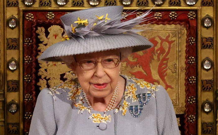 Britain's Queen Elizabeth II waits to read the Queen's Speech on the The Sovereign's Throne in the House of Lords chamber, during the State Opening of Parliament at the Houses of Parliament in London on 11 May 2021, which is taking place with a reduced capacity due to Covid-19 restrictions. Picture: Chris Jackson/AFP