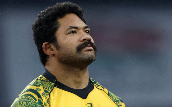 Australia's Tatafu Polota-Nau lines up ahead of the international rugby union test match between England and Australia at Twickenham stadium in south-west London on November 24, 2018. Picture: AFP.