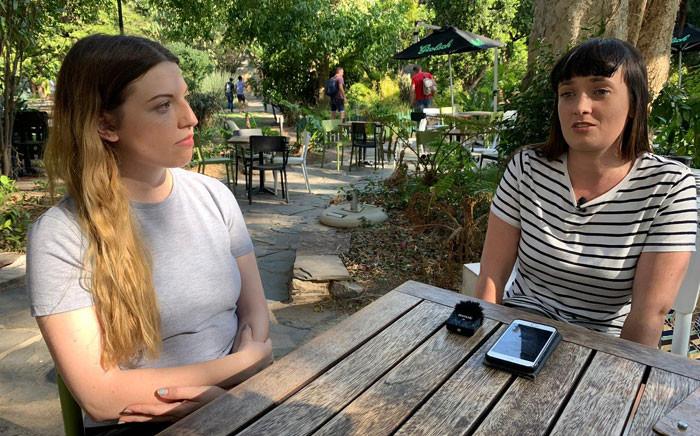 Sasha-Lee Heekes and Megan Watling. Picture: Kaylynn Palm/EWN