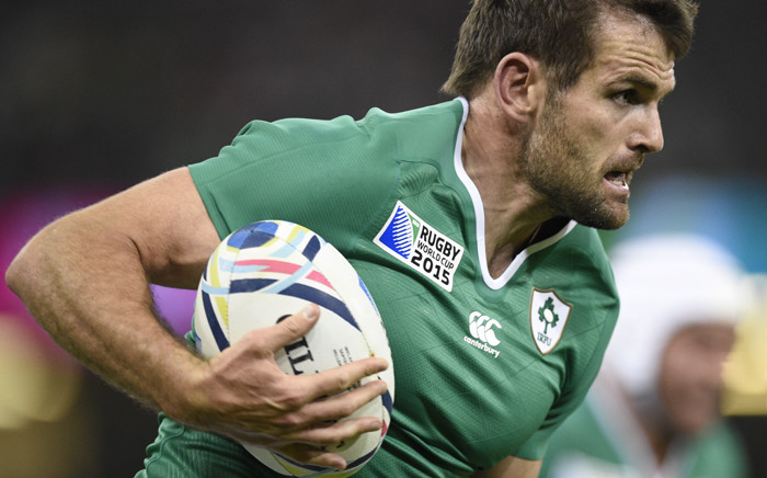 FILE: Ireland's centre Jared Payne during a Pool D match of the 2015 Rugby World Cup between Ireland and Canada at the Millenium stadium in Cardiff, south Wales on September 19, 2015. Picture: AFP.