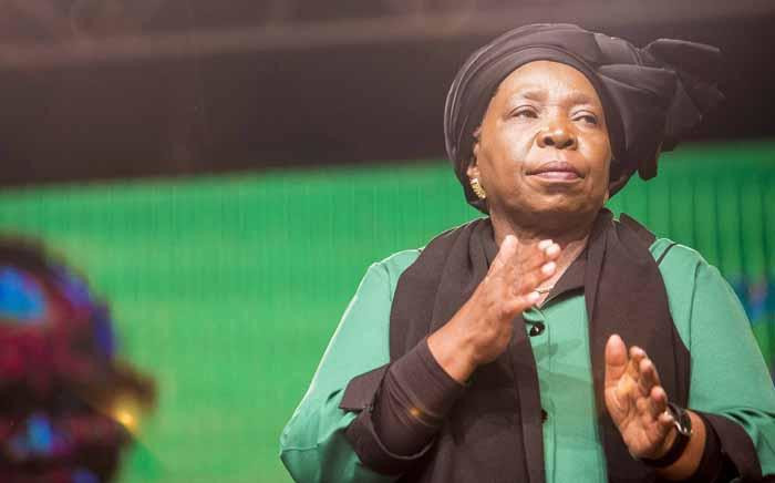 FILE: Nkosazana Dlamini-Zuma at the ANC national policy conference at Nasrec on 30 June 2017. Picture: Thomas Holder/EWN.