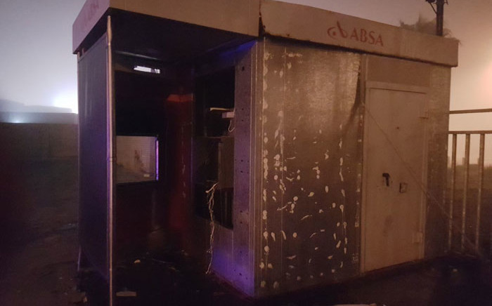The wreckage of an ATM after it was bombed during protest action in Mitchells Plain on 2 May 2018. Picture: City of Cape Town