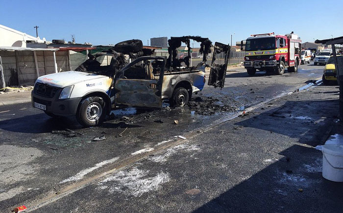 Disgruntled taxi drivers torched at least three vehicles in Cape Town in protest against the rollout of the MyCiTi bus service. Picture: Natalie Malgas/EWN.