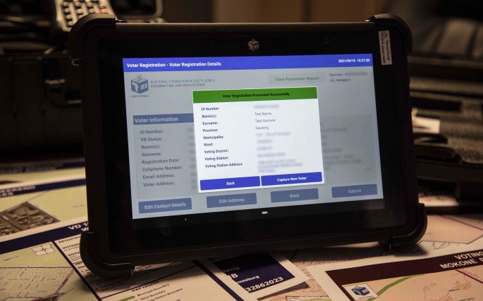 The new Voter Management Device that will be used to improve data capturing of voters for elections in South Africa. Picture: Abigail Javier/Eyewitness News