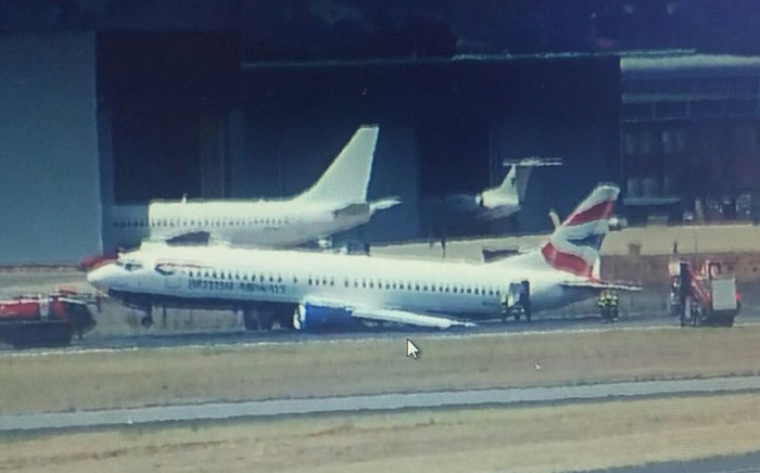 It's not yet clear what led to the accident. Picture: @airlivenet.