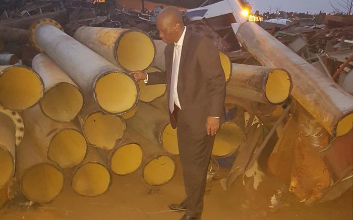 Johannesburg Mayor Herman Mashaba at the scene where criminals were arrested by JMPD and the city's Group Forensics team for copper and water infrastructure thefts. Picture: @HermanMashaba.