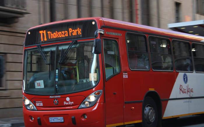 Rea Vaya bus is seen in Johannesburg CBD. Picture: Facebook.com