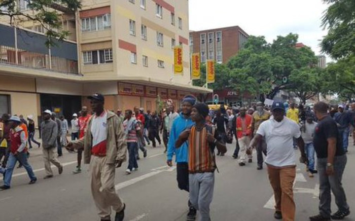 Groups of protesters moving through the streets of Pretoria on 24 February 2017. Picture: Barry Bateman/EWN.