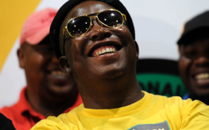 ANC Youth League leader Julius Malema laughs during a news briefing in Johannesburg on 5 March, 2012. Picture: Werner Beukes/SAPA