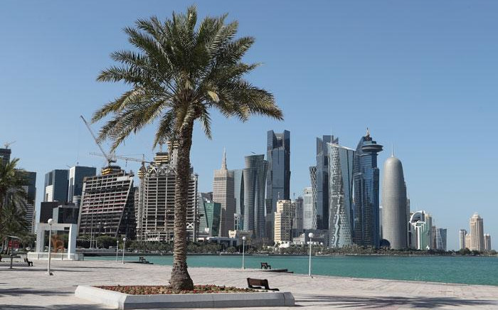 FILE: A general view taken on 5 June 2017 shows the corniche in Doha. Picture: AFP.