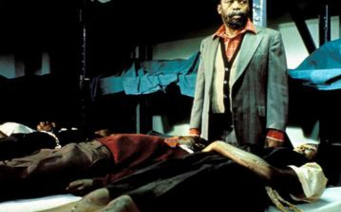 South African-born actor Zakes Mokae in 'A Dry White Season', filmed in 1989. Picture: Gallo Images/AFP.