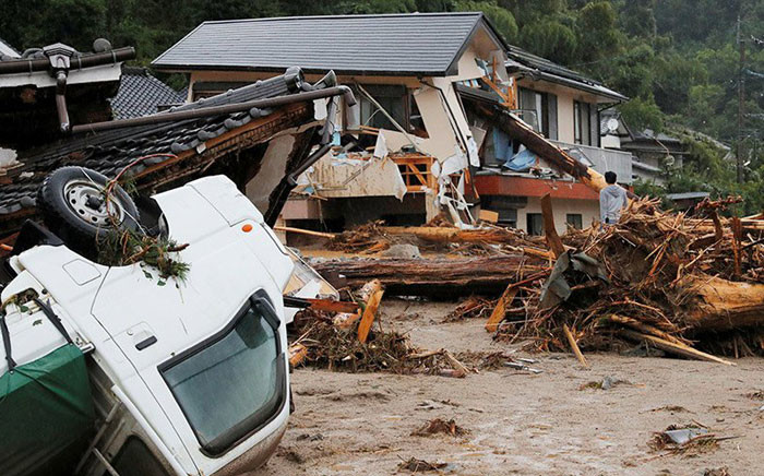 FILE: Authorities warned of more downpours over the weekend, compounding the misery that the summer storms have brought to southwest Japan since Wednesday. Picture: AFP.