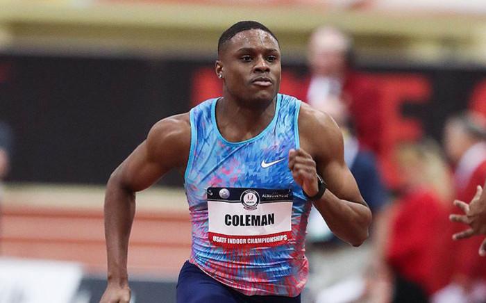 US sprinter Christian Coleman. Picture: @iaaforg/Twitter