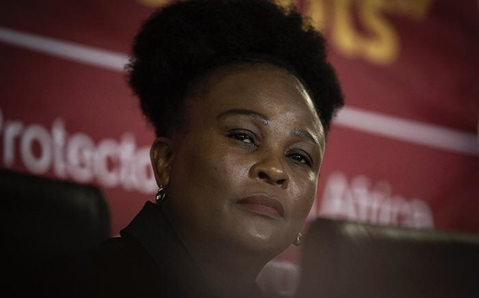 FILE: Advocate Busisiwe Mkhwebane delivering her findings against President Cyril Ramaphosa. Picture: EWN
