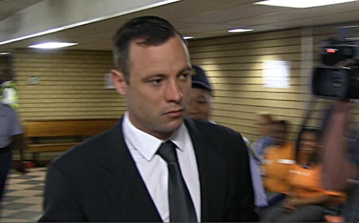 Oscar Pistorius arriving at the High Court in Pretoria ahead of his sentencing on 15 October 2014. Picture: Reinart Toerien/EWN.