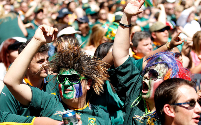 The 16th Springbok team player - the fans. Picture: Reuters