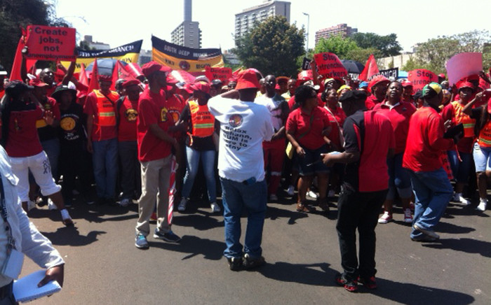 Cosatu led a mass march for decent work in Johannesburg on 7 October. Picture: Govan Whittles/EWN.