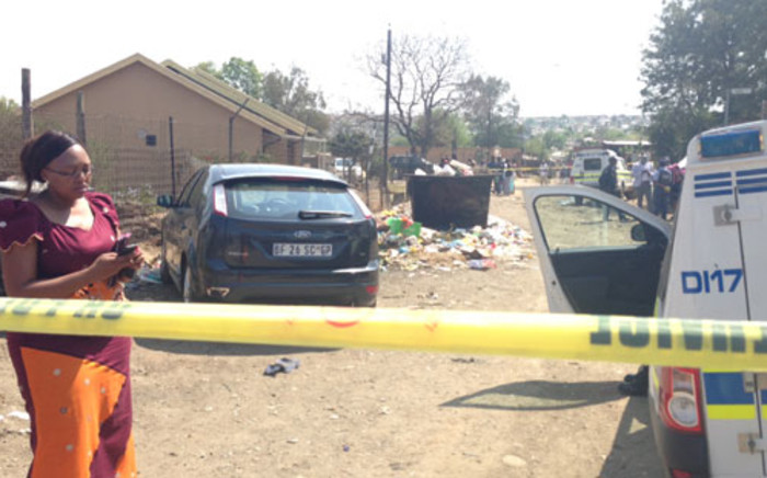 A five-year-old girl found dead behind a dumpster in Diepsloot on Monday. Picture: Sebabatso Mosamo/EWN