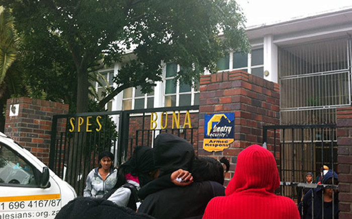 The entrance to Spes Bona High School in Athlone after a matriculant was shot in the head. Picture: Chanel September/EWN
