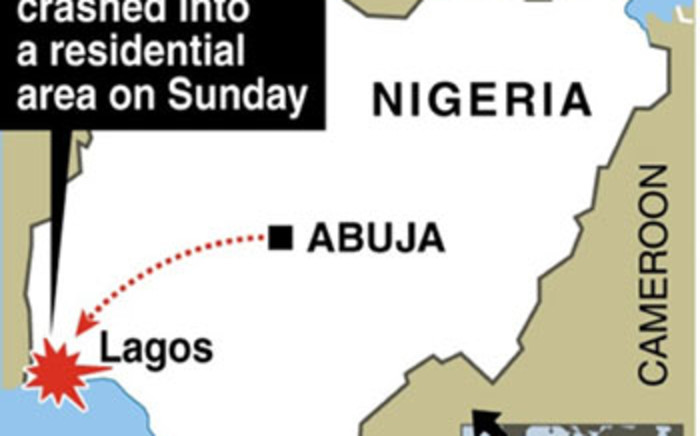 Nigeria Plane Crash graphic. Picture: AFP/SAPA