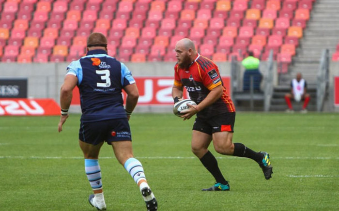 Prop Pieter Scholtz (right) in action for the Southern Kings. Picture: Southern Kings