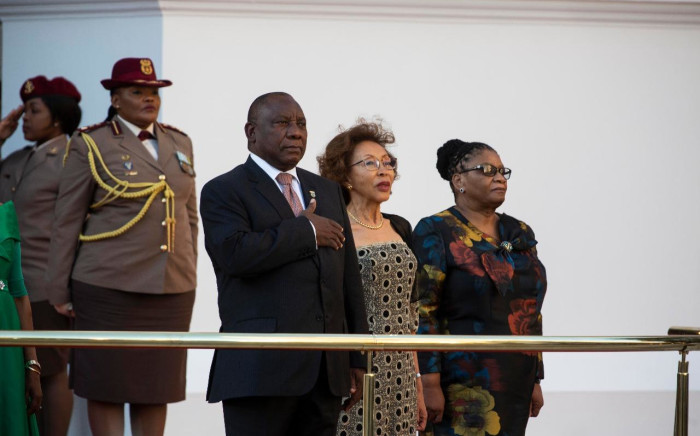 FILE: President Cyril Ramaphosa, First Lady Tshepo Motsepe and National Assembly Speaker Thandi Modise at Sona 2019. Picture: Christa Eybers/EWN