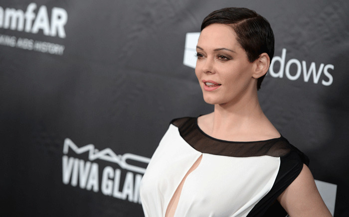 Actor Rose McGowan in Los Angeles in October 2014. Picture: AFP.