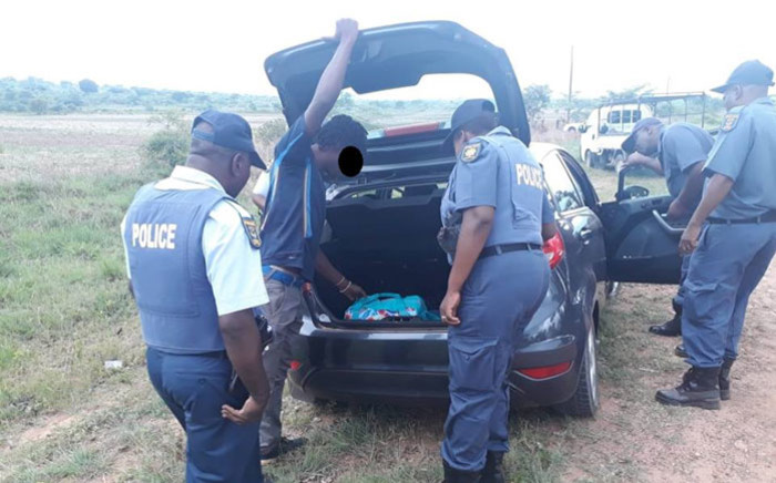 Limpopo police search a car during Operaion Quiet Storm. Picture: @SAPoliceService/Twitter
