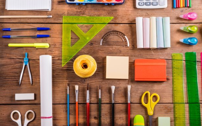 Desk with stationery to mark back-to-school. Image: 123rf.com