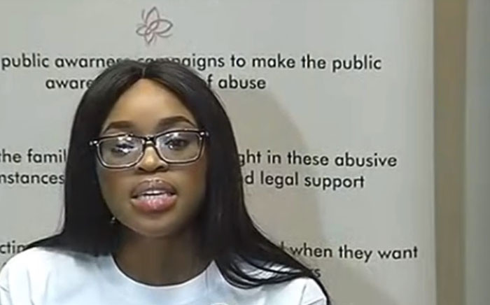 A screengrab of Cheryl Zondi at a media briefing on 19 March 2019. Zondi has accused Nigeria pastor Timothy Omotoso of sexually abusing her.