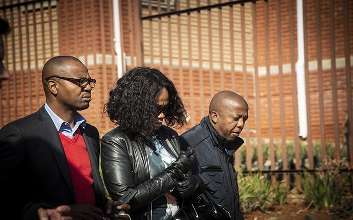 Given and Ipeleng Mkhari leave the Randburg magistrates court on 16 July 2018. Picture: Kayleen Morgan/EWN